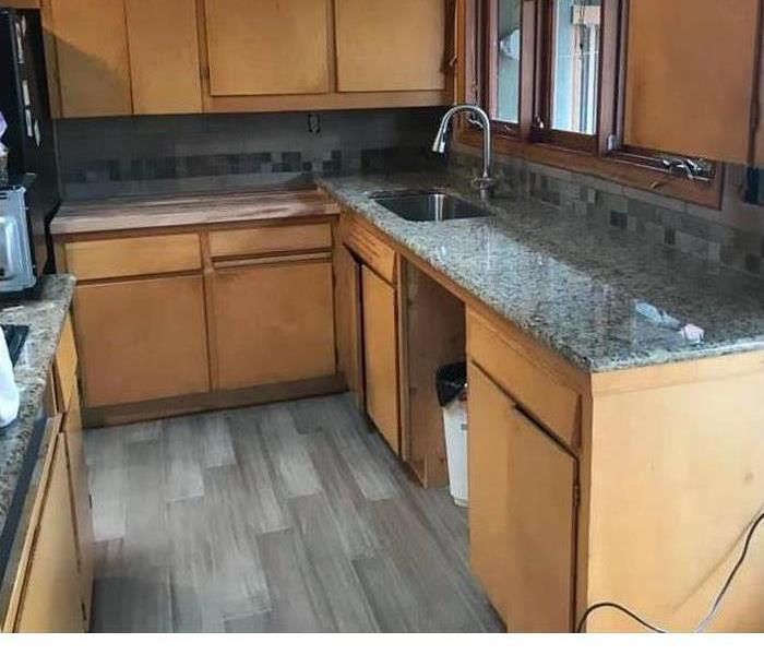 Completely remodeled kitchen after water damage